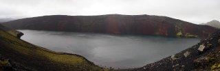 Cratère rouge vers Landmannalaugar
