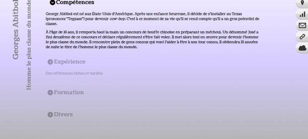 Le CV HTML5 de Georges Abitbol