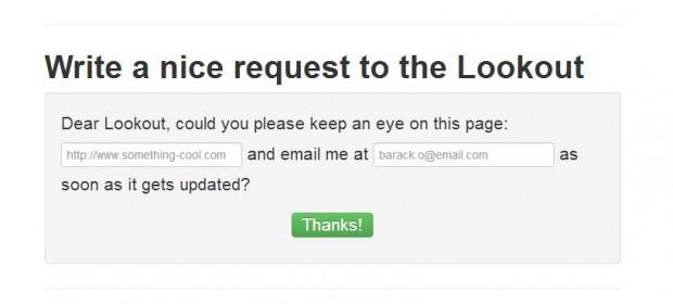 Surveiller les mises à jour d'une page web avec Lookout